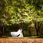 Minstrel Court Wedding Venue - A bridal veil in the breeze
