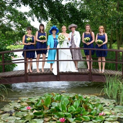 Minstrel Court lake Wedding Pavilion Monet Bridge with Lilies