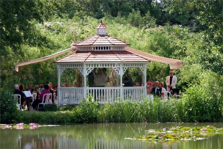 Minstrel Court lake Wedding Pavilion - a view over the lake