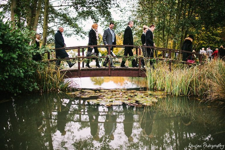 Minstrel Court lake Wedding Pavilion Monet Bridge