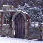 Minstrel Court Wedding - the folly in winter