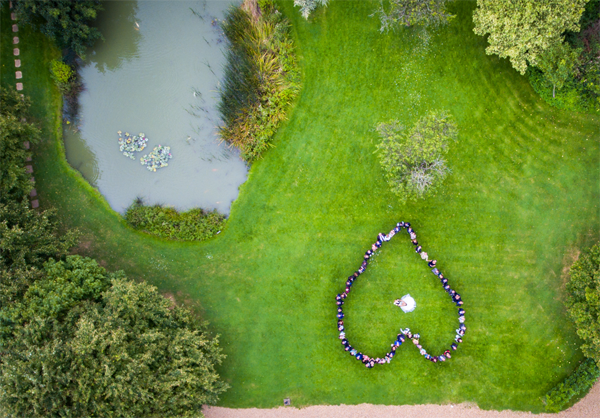 Minstrel Court Weddings - A heart from the air