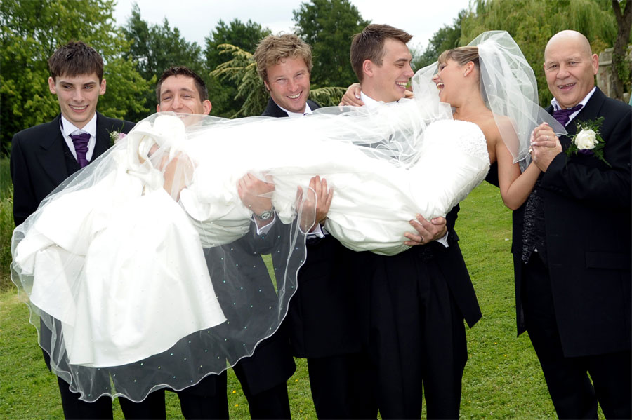 Minstrel Court Weddings - Carrying the Bride