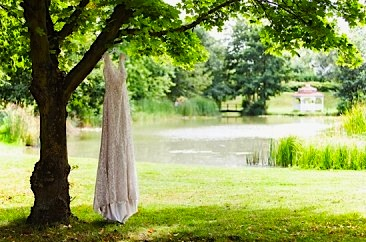Minstrel Court Weddings - The dress over the lake