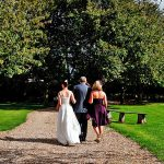 Minstrel Court Weddings - Walking to the island
