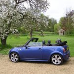 Minstrel Court Weddings - tranport - Open top mini cooper