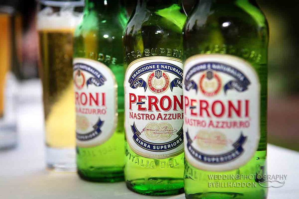 Wedding Peroni Beers