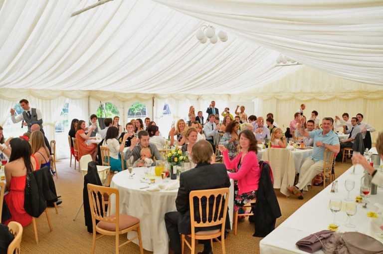 Minstrel Wedding Marquee - Wedding Breakfast