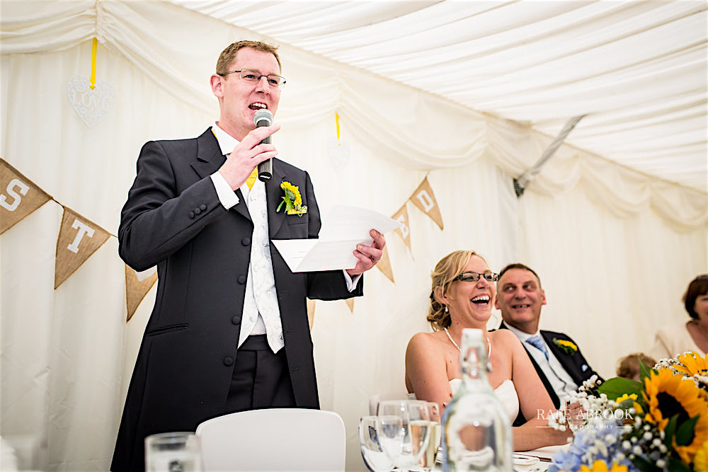 Minstrel Court Wedding Venue - Speeches in the Marquee