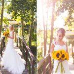 Minstrel Court Wedding Venue - A summer bride on the Monet Bridge