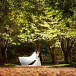 Minstrel Court Wedding Venue - A bridal veil in the breeze