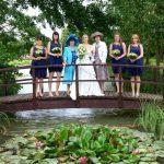 Minstrel Court lake Wedding Pavilion Monet Bridge with Lilies