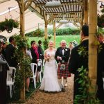 Minstrel Court lake Wedding Pavilion -walking down the Aisle