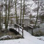 Minstrel Court lake Wedding Pavilion in winter