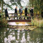 Minstrel Court lake Wedding Pavilion Monet Bridge