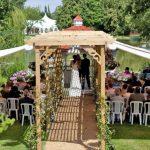 Minstrel Court lake Wedding Pavilion - the early days!