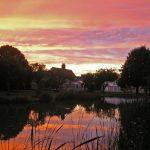Minstrel Court Wedding - Sunset over the lake