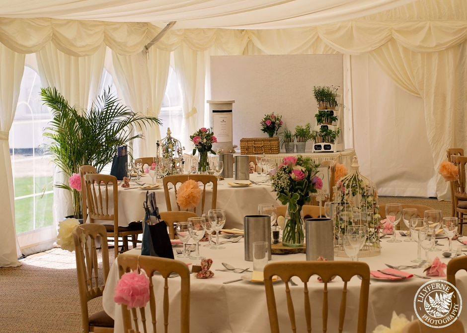 Minstrel Court Wedding Venue - marquee Roses