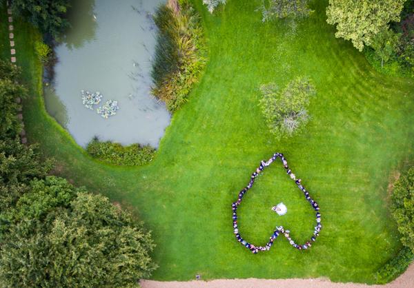 Minstrel Court Weddings - A heart from the air