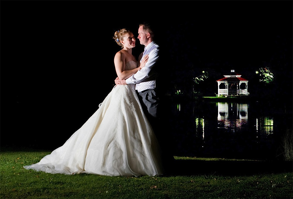 Minstrel Court Weddings - Bride and Groom at Night