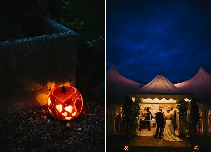 Minstrel Court Weddings - Marquee at Halloween