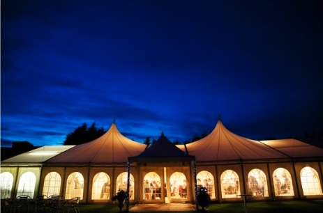 Minstrel Court Weddings - Marquee at dusk