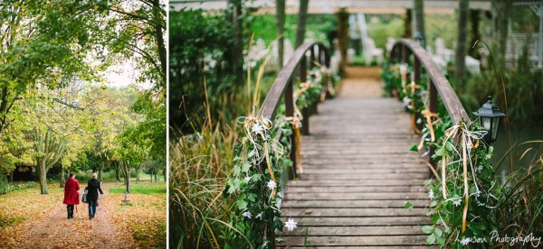 Minstrel Court Weddings - The monet bridge in the Autumn