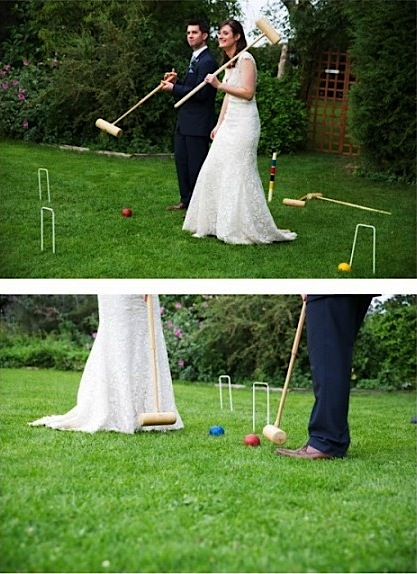 Minstrel Court Weddings - croquet on the lawn
