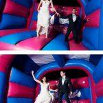 Minstrel Court weddings - the bouncy castle!