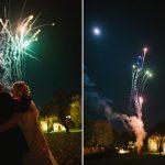 Minstrel Court weddings - twin fireworks