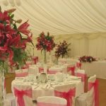 Minstrel Wedding Marquee - Pink Sashes