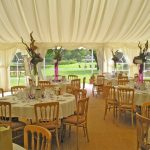Minstrel Wedding Marquee - Dressed with Beech Chairs