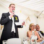 Minstrel Court Wedding Venue - Speeches in the Marquee