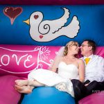 Minstrel Court Wedding Venue - relaxing on the bouncy castle